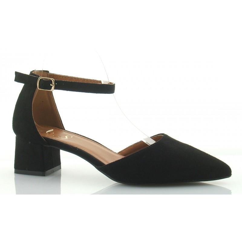 sandały czarne na słupku 4cm