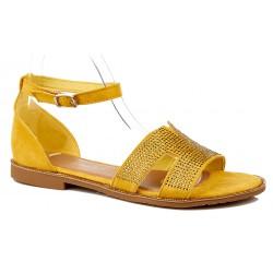 Sandały damskie zamszowe na...